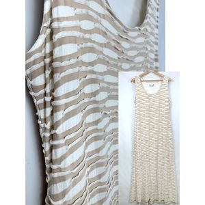 Beige by eci Sleeveless Ruffled Maxi Dress